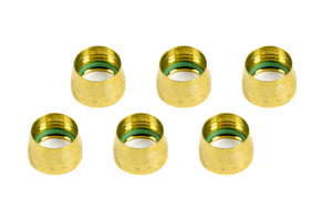 -10 Replacement A/C Brass Sleeves (6pk) AERFCM2432 AEROQUIP