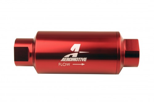#10-ORB Fuel Filter Inline 10 Mircon Red AFS12340 AEROMOTIVE