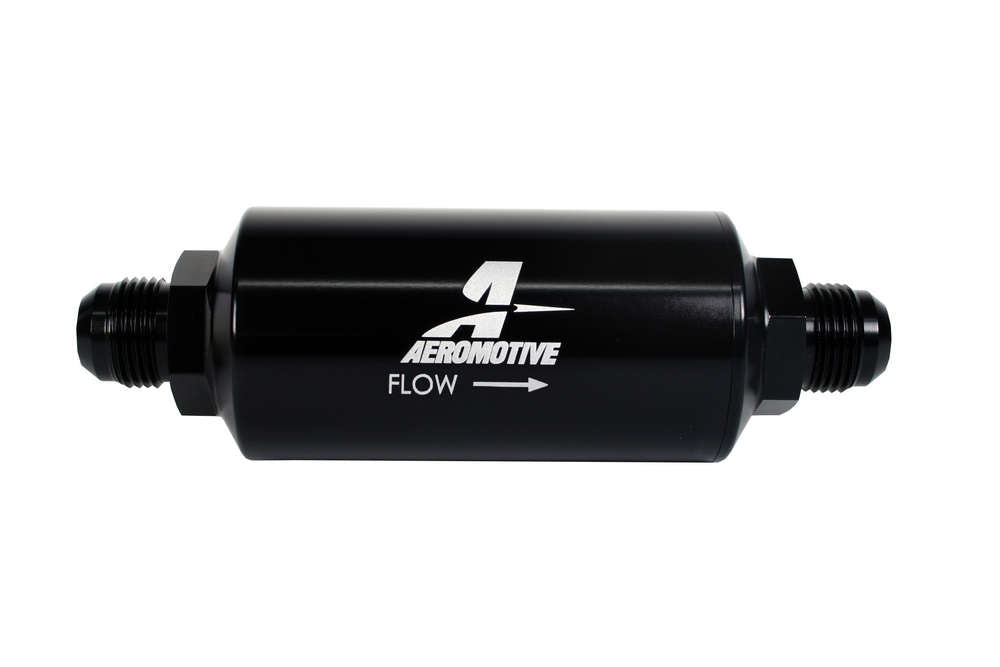 10an Inline Fuel Filter 40 Micron 2in OD Black AFS12388 AEROMOTIVE