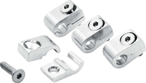 2pc Alum Line Clamps 3/16in 4pk ALL18320 ALLSTAR PERFORMANCE