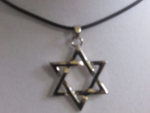 Star Of David With A Cord Chain