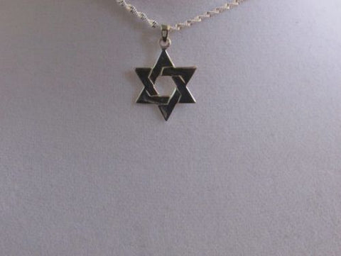 Star of David-Silver Flat Intertwined