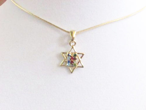 Gold Star of David with Breastplate