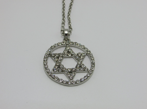 Star Of David Pendant Covered in Stones