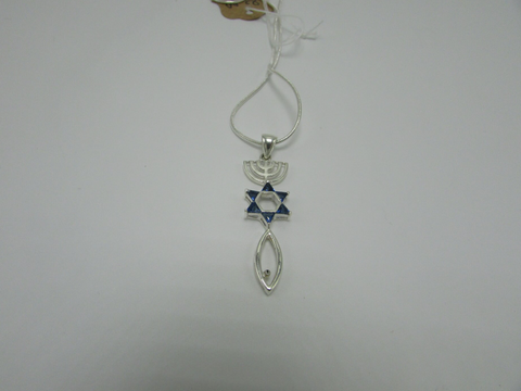 New Man with Blue Stones Pendant