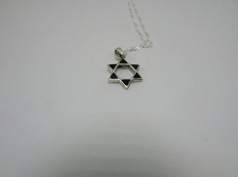 Black Enamel Star Of David