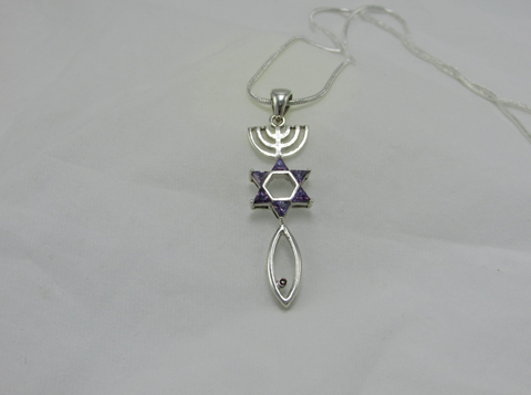 Purple Stone New Man Pendant