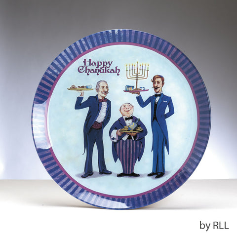 Round Chanukah Serving Platter