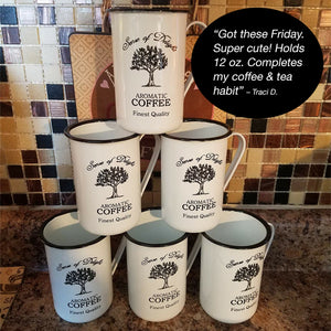 Old Fashioned Enamelware Coffee Cups Customer Review