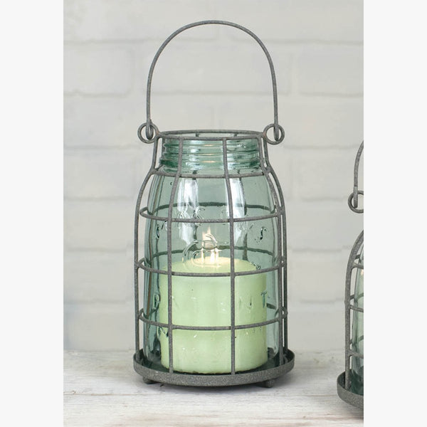 QUART MASON JAR CANDLE CAGE