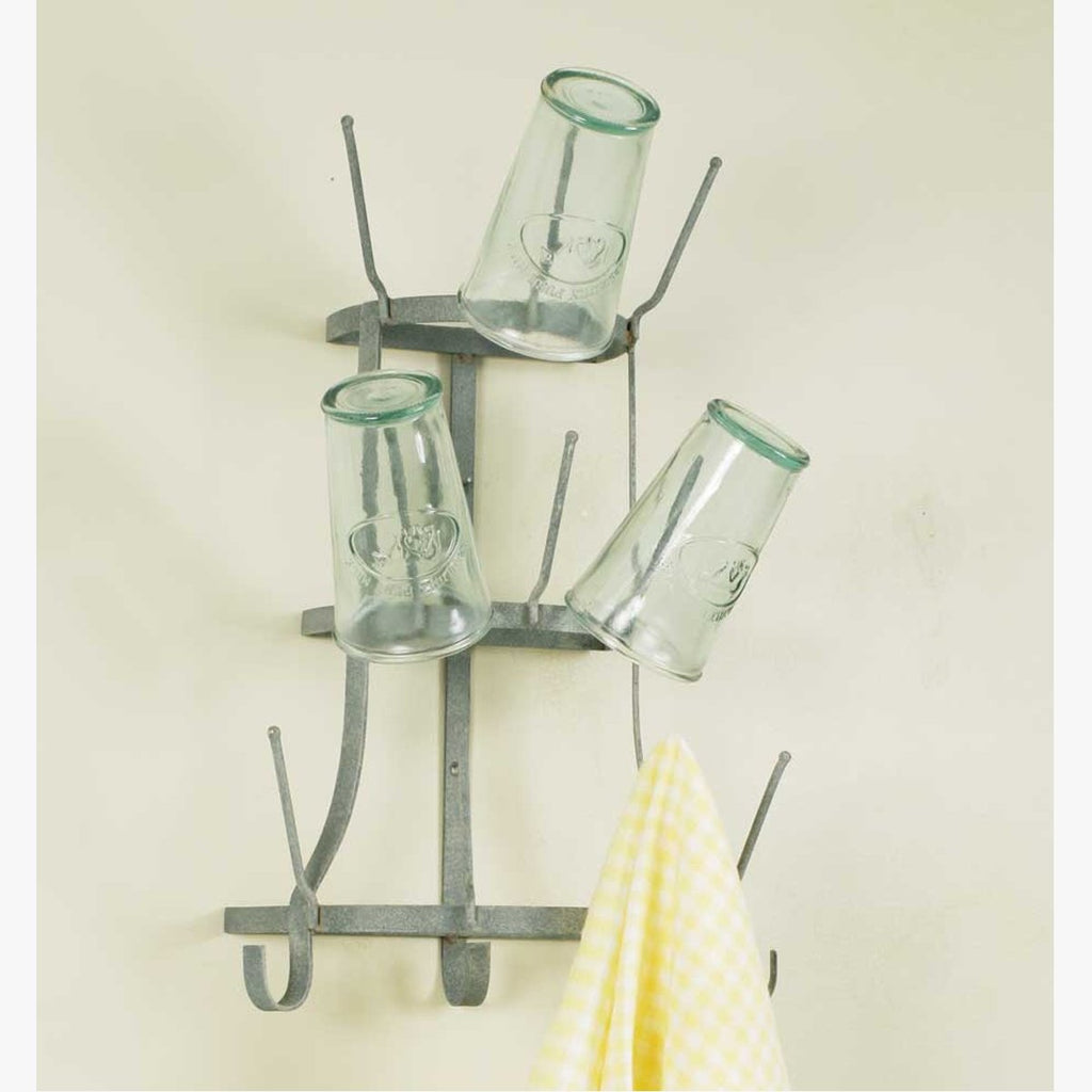 WALL MOUNT WINE BOTTLE TREE - BARN ROOF