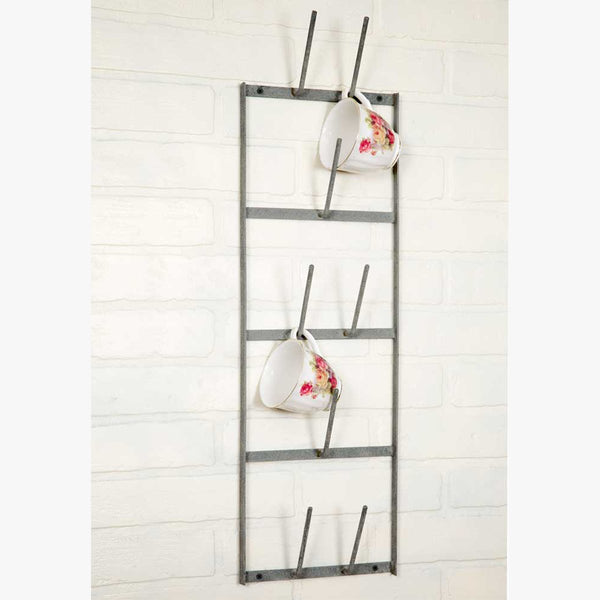 FARMHOUSE STYLE NARROW METAL WALL RACK
