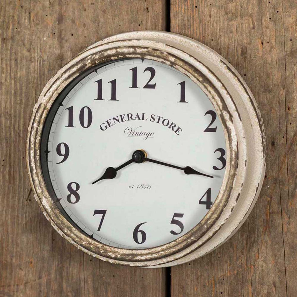 VINTAGE GENERAL STORE WALL CLOCK
