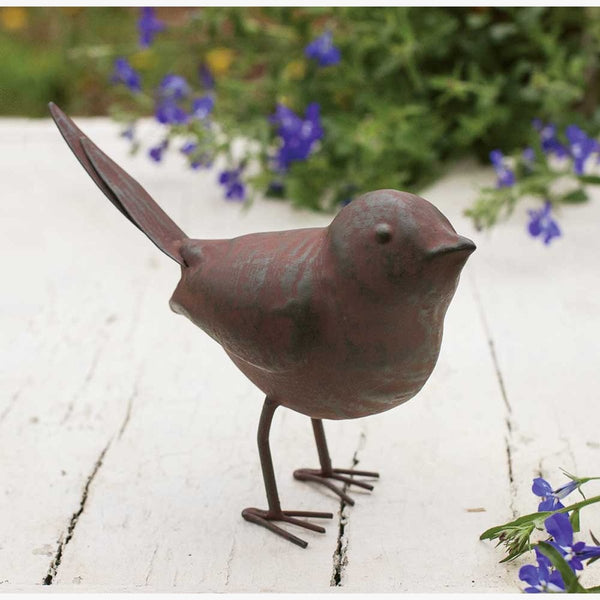 SET OF 4 RUSTIC METAL SONGBIRDS