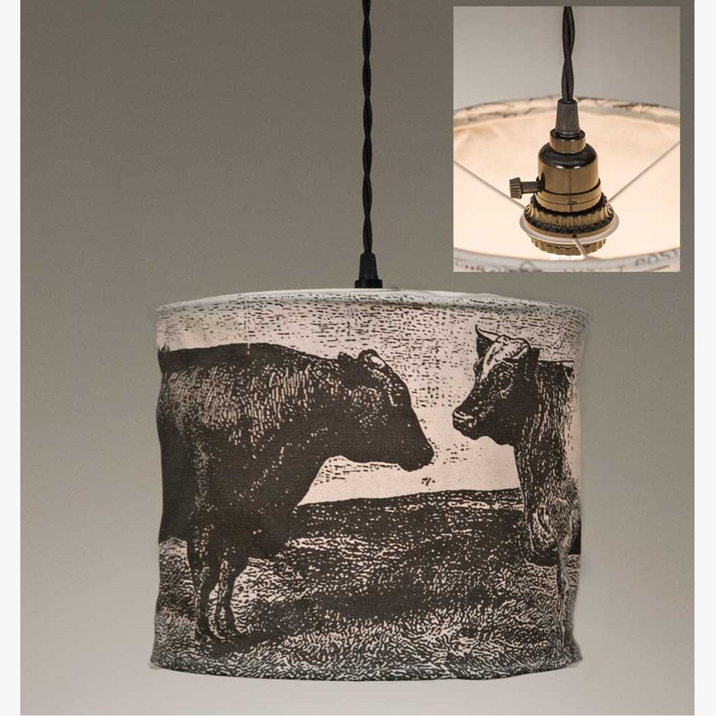 COWS CANVAS PENDANT LAMP