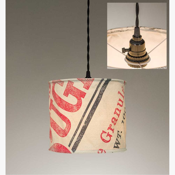 STAGECOACH SUGAR CANVAS PENDANT LAMP