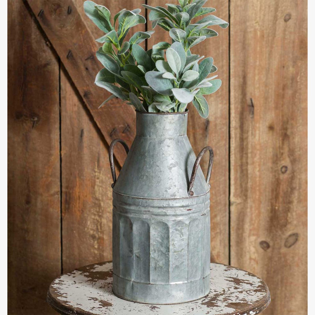 FARMHOUSE STYLE TALL MILK CAN WITH HANDLES