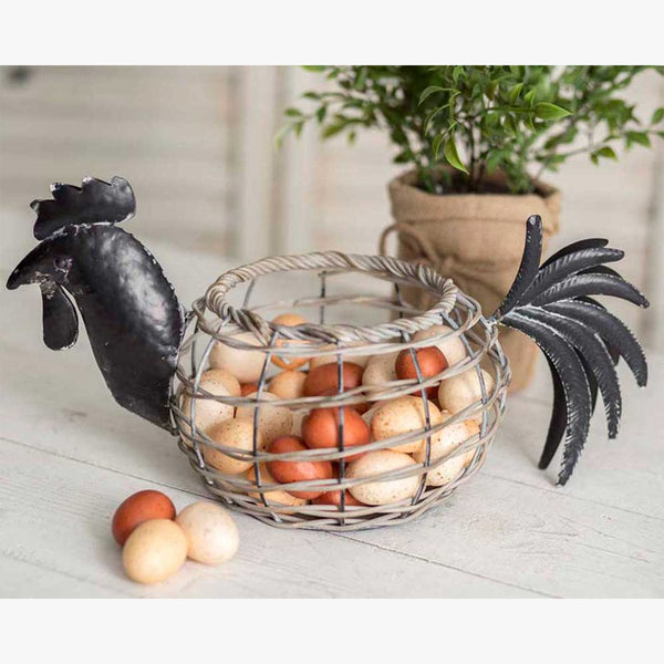ROOSTER REED EGG BASKET