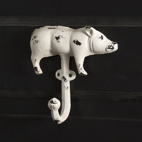 SET OF TWO CAST IRON PIG HOOK