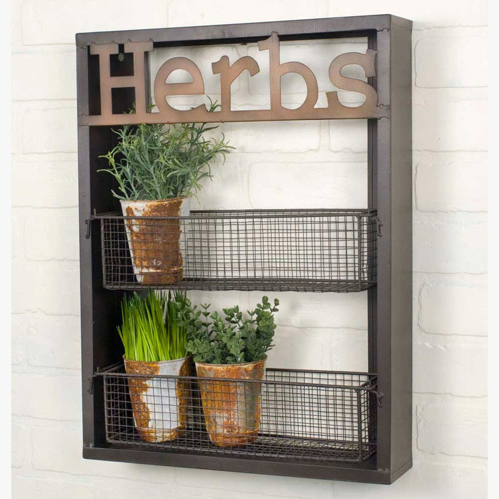 "VINTAGE ""HERBS"" WALL SHELF"
