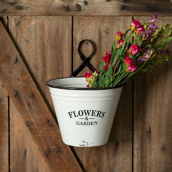 SET OF TWO FLOWERS & GARDEN WALL PLANTERS