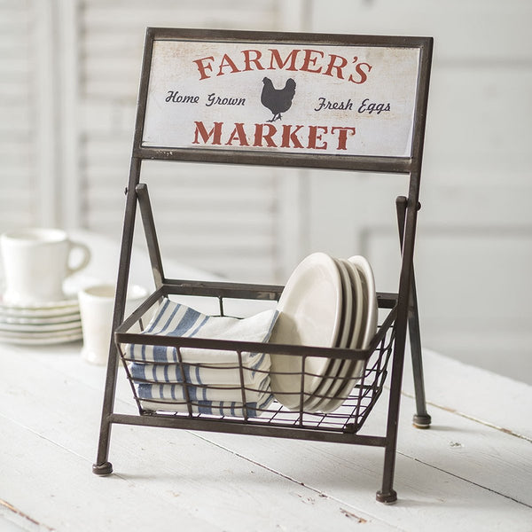 """FARMER'S MARKET"" DISPLAY BASKET"