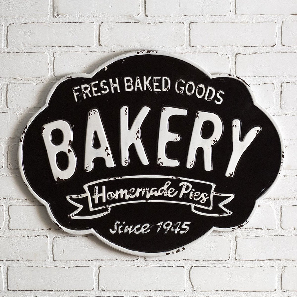 """BAKERY"" METAL SIGN"