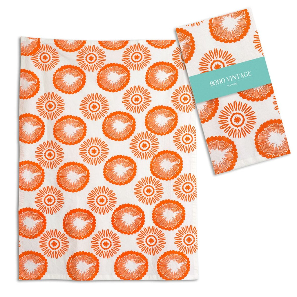 SET OF FOUR CLEMENTINE TEA TOWEL