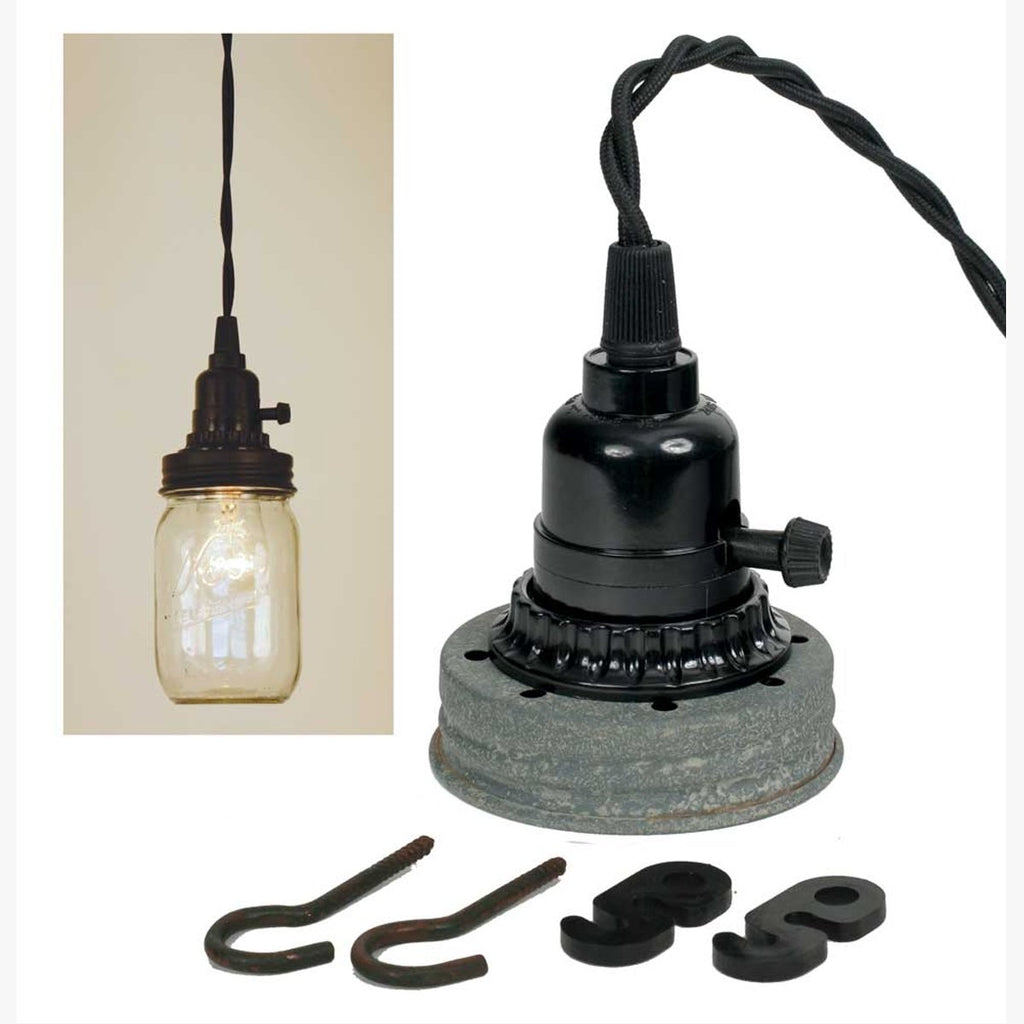 MASON JAR PENDANT LAMP KIT - BARN ROOF