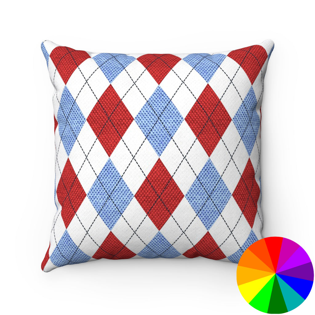 ARGYLE DECORATIVE THROW PILLOW