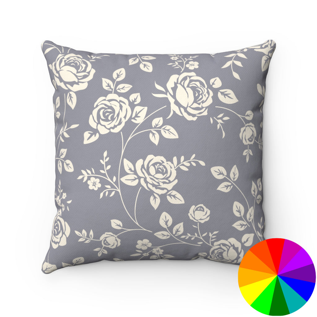 CREAM ROSES DECORATIVE THROW PILLOW