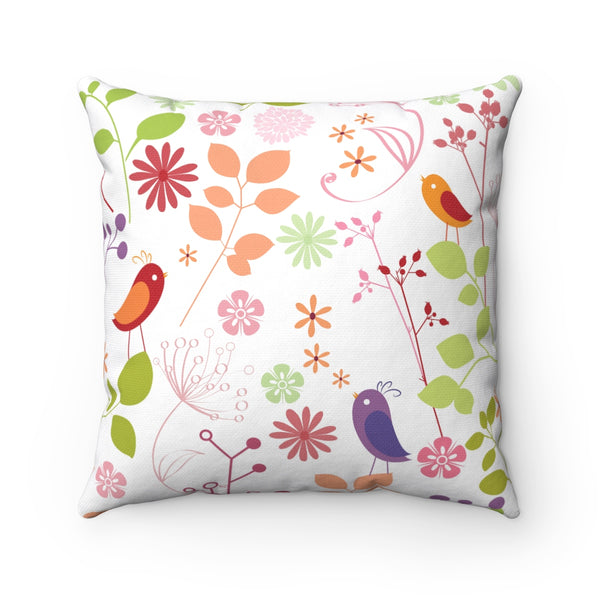 RUSTIC FLORAL DECORATIVE THROW PILLOW