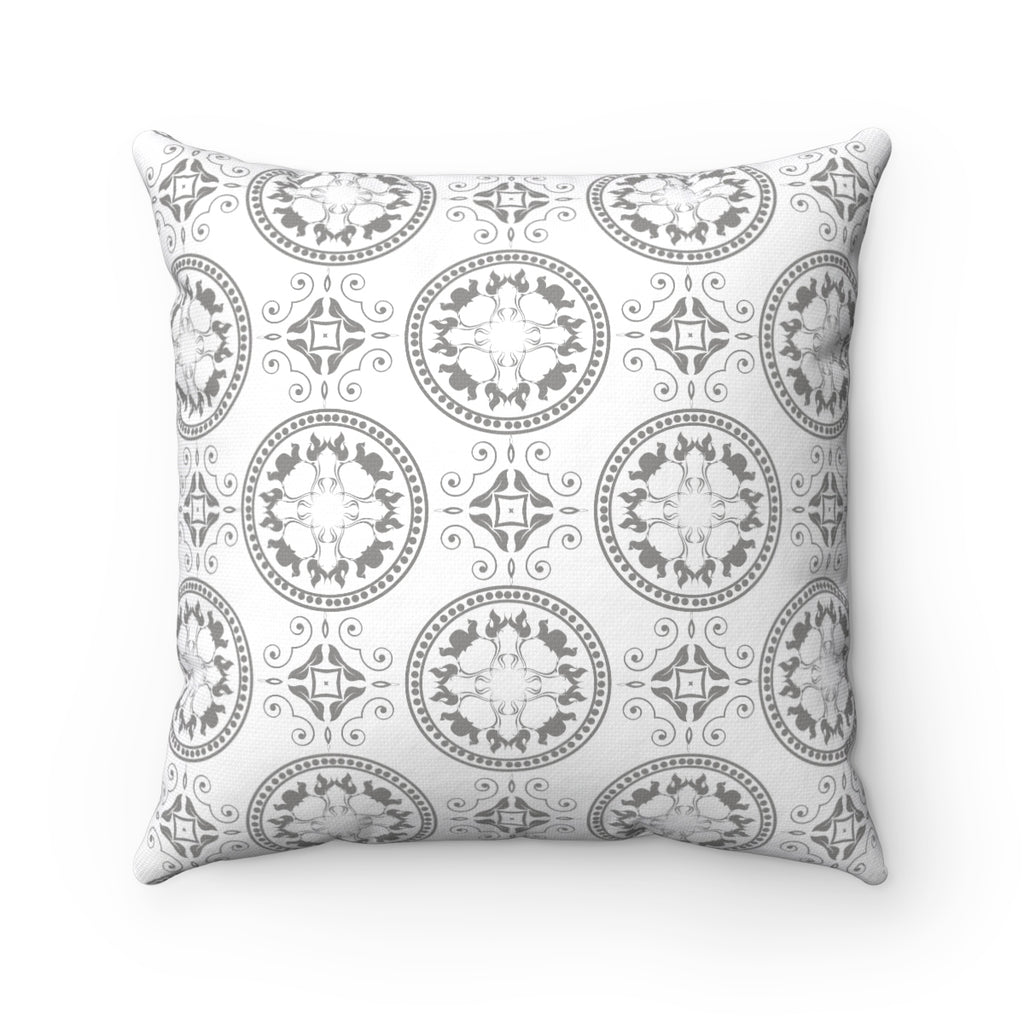GREY BOHO DECORATIVE THROW PILLOW