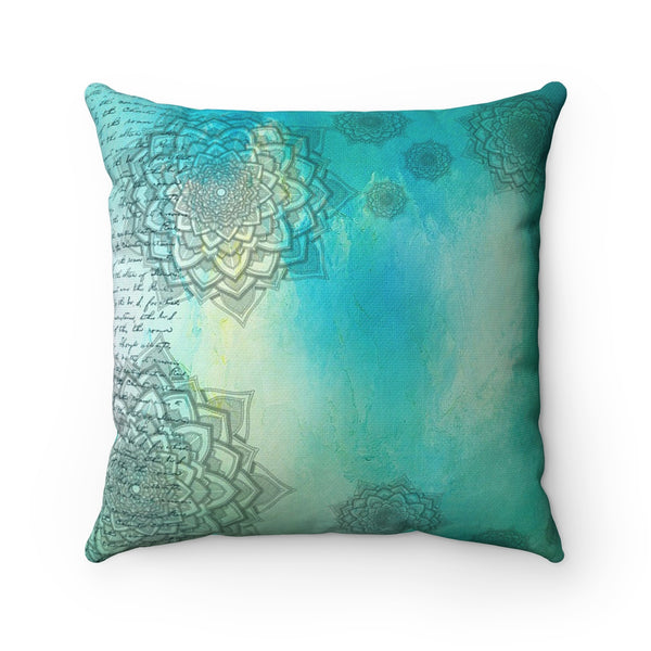 BLUE MADALA DECORATIVE THROW PILLOW