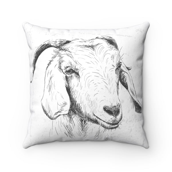 FARM SKETCH OF GOAT DECORATIVE PILLOW