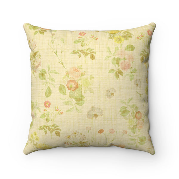VINTAGE FLORAL DECORATIVE THROW PILLOW