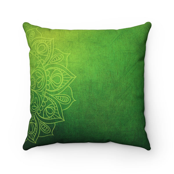 GREEN MADALA DECORATIVE THROW PILLOW