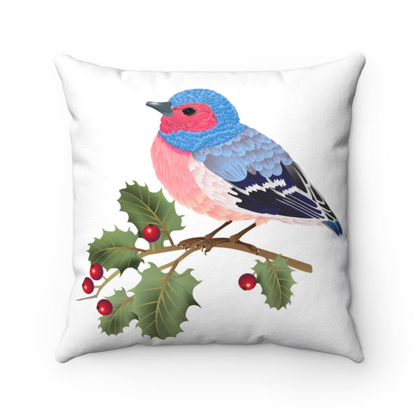 ROBIN ON HOLLY PILLOW