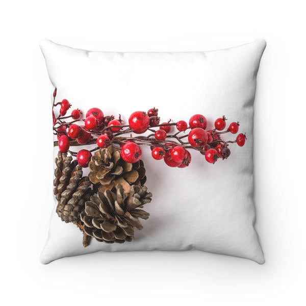 SNOWBERRIES AND PINECONES PILLOW