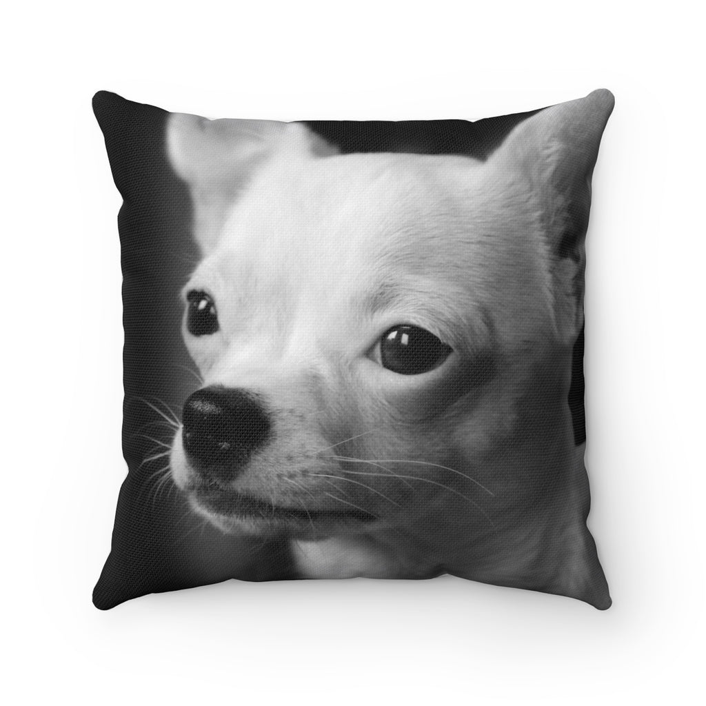 WHITE CHIHUAHUA PILLOW