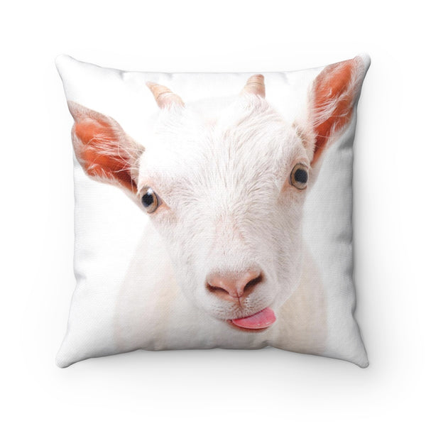WHITE GOAT PILLOW