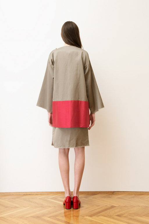 alma vetlnyi poppy jacket khaki cherry red dzseki