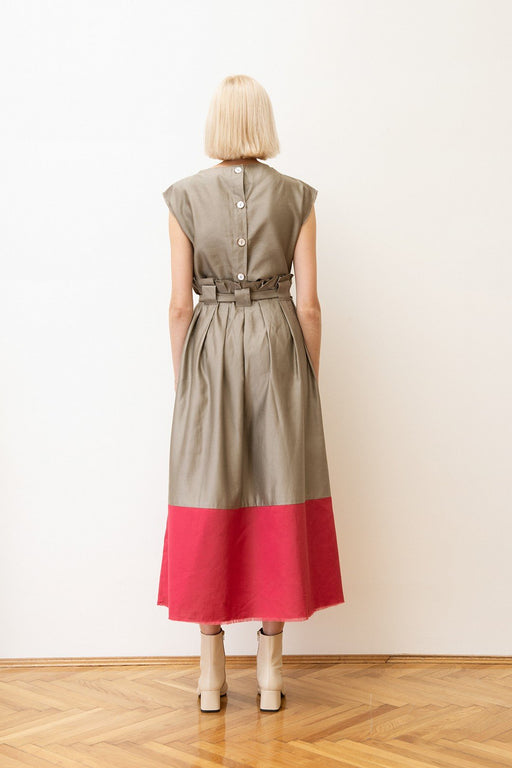 alma vetlnyi flame skirt khaki cherry red szoknya