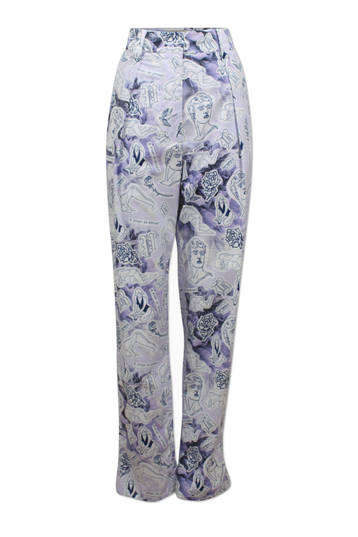 baum und pferdgarten noberta loose fit trousers lilac rose tattoo nadrag