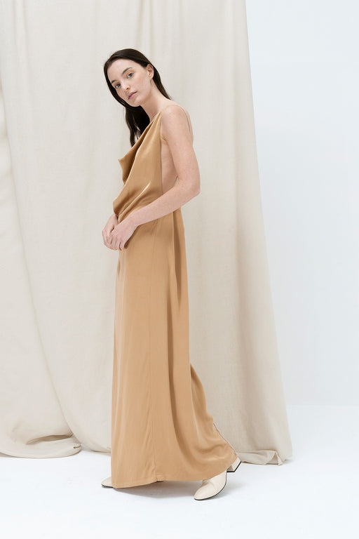 SS'20 Golden Reed Evening Dress