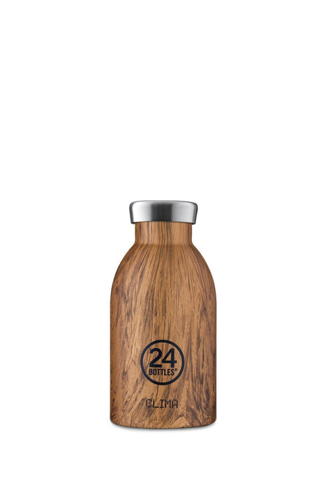 24bottles clima bottle 330 ml sequoia wood rozsdamentes acel kulacs palack