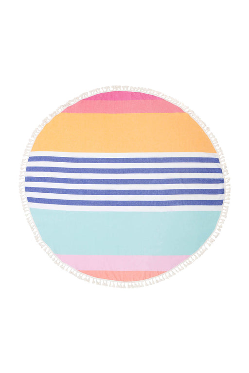 Round Giant Fouta Towel Catalina