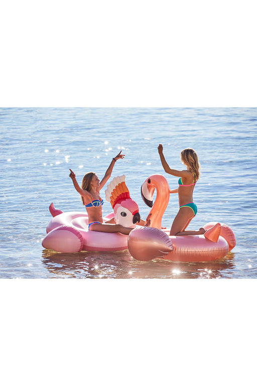 Giant Luxe Ride-On Rose Gold Flamingo Float