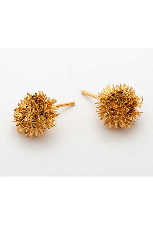 Gold Sparkling Stars Studs