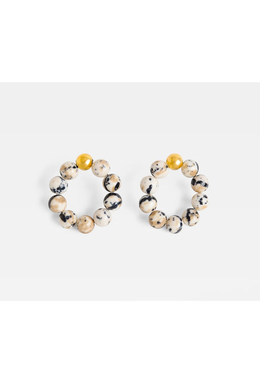 Gold Howlite Marble Beads Hoops